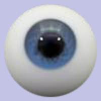 Cobalt Solid Glass Paperweight Eyes